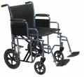 Bariatric Heavy Duty Transport Wheelchair with Swing away Footrest - btr20-b