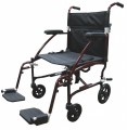 Fly Lite Ultra Lightweight Transport Wheelchair - dfl19-rd