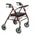 Heavy Duty Bariatric Rollator Walker with Large Padded Seat - 10215rd-1