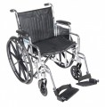 Chrome Sport Wheelchair with Front Rigging Options FA